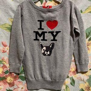 I Love My Frenchie Bulldog Sweater Jumper